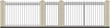 Забор кованый КСЗ-7