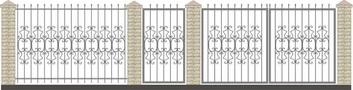 Забор кованый КСЗ-28
