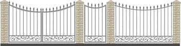 Ворота кованые ВКС-10