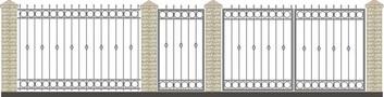 Ворота кованые ВКС-12