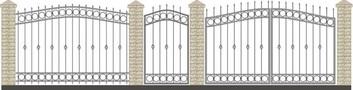 Ворота кованые ВКС-13