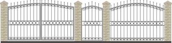 Ворота кованые ВКС-15