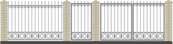 Ворота кованые ВКС-16
