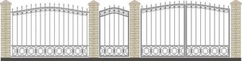 Ворота кованые ВКС-17