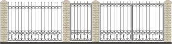 Ворота кованые ВКС-18