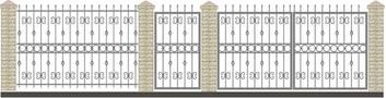 Ворота кованые ВКС-20