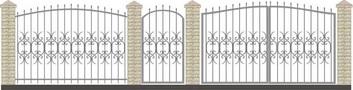 Ворота кованые ВКС-27