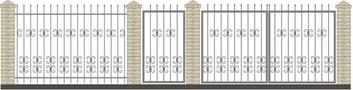 Ворота кованые ВКС-31