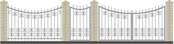 Ворота кованые ВКС-32