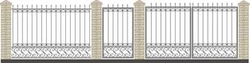 Ворота кованые ВКС-33