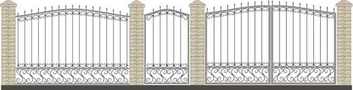 Ворота кованые ВКС-34
