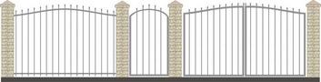 Ворота кованые ВКС-4