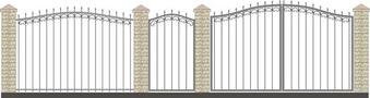 Ворота кованые ВКС-6