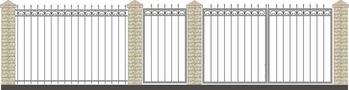 Ворота кованые ВКС-7