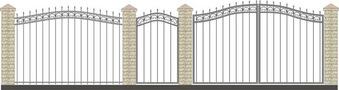 Ворота кованые ВКС-8