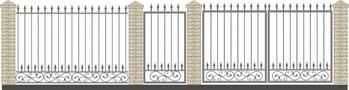 Ворота кованые ВКС-9
