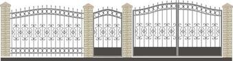 Ворота кованые ВКС-36