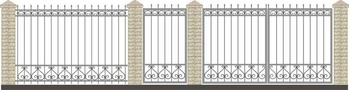 Ворота кованые ВКС-37