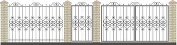 Ворота кованые ВКС-39