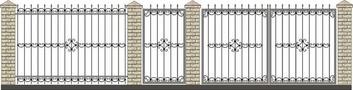 Ворота кованые ВКС-41