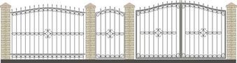 Ворота кованые ВКС-42